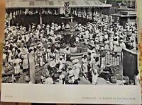 1954 Antilles  Guadeloupe le marché de Pointe-à-Pitre Caraïbes Costumes Fruit