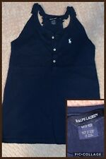 Girls Ralph Lauren 8-9-10 Years Navy Sleeveless Fab Summer Top