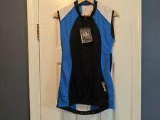 Kona Tri Apparel Mens Triathlon Vest Jersey Tank Top Blue Black Size Large