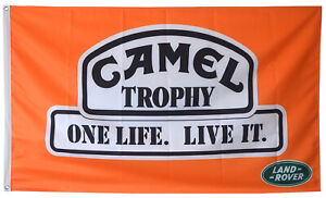 Camel Trophy Flag Automotive Land Rover One Life live it Banner 5X3 FT