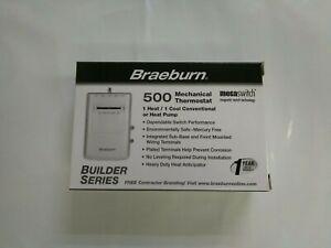 NEW Braeburn 500 1 Heat / 1 Cool Mechanical Thermostat
