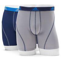 Men adidas sport Performance Blue/Grey boxer Brief (2- Pack) Underwear .