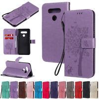Cat Tree Wallet Leather Flip Case Cover For LG K51 K40 K41S K51S G7 G8 Q Stylo 6