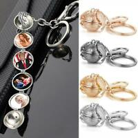 Expanding 4-5 Photo Locket Keychain Angel Wing Lover Memorial Keychain New