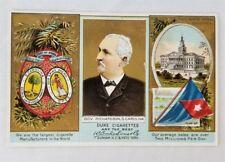 TOBACCO COAT OF ARMS CARD/ 1880 DUKE SC GOVERNOR RICHARDSON