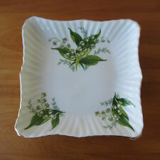"""Hammersley England Bone China Lily of the Valley Square Dish Tray 6"""""""