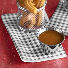 More details for black gingham greaseproof paper 25x20cm sheets burger chips food wrap antigrease
