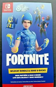 ✅✅🎮 Fortnite Wildcat Bundle Code For The Nintendo Switch Console Lite 2000 VC✅✅