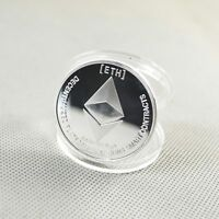 Silver Plated Commemorative Collectible Golden Iron ETH Ethereum Miner Coins