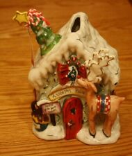 Sweet Blue Sky Clayworks Rudolphs Place Reindeer Christmas T Light House