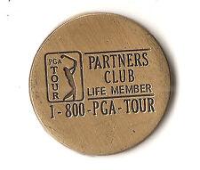 PGA Tour Partner's Club Life Member token, golf ball maker, blank reverse