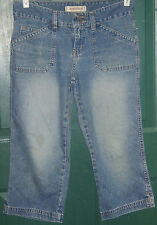 Women's Junior's HYDRAULIC capri distressed jeans size 1/2  30 x 20 USED pants