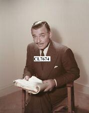 Clark Gable Reading a Movie Script Photo