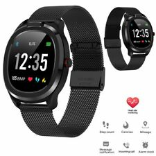 Touch Screen Bluetooth Smart Watch Stainless Steel Wristband Fitness Tracker