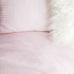 Dormify Light Pink Waffle Duvet and Sham Set