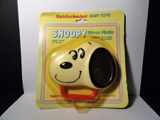 Vintage 1970's Knickerbocker Baby Toys - Snoopy Mirror Rattle - New/Sealed