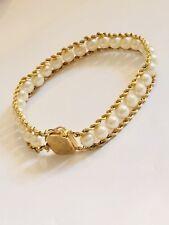 Vintage Hawaiian Design Natural Culutred Pearl Bracelet...14K Solid Gold...
