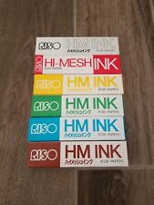 RISO Print Gocco 6 Basic Colors HiMesh HM INK for Paper Screen Print NEW SEALED