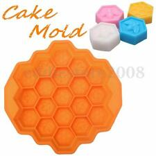 Cake Mold Bee Honeycomb Flexible Silicone Mould For Candy Chocolate Soap Cookie