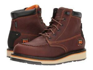 """Timberland Pro GRIDWORKS 6"""" Mens Red-Brown TB0A1KRQ SOFT TOE Waterproof Boots"""