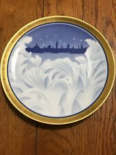 1995 Bing & Grondahl 100th Anniversary Centennial of Christmas Plate-Gold Rimmed