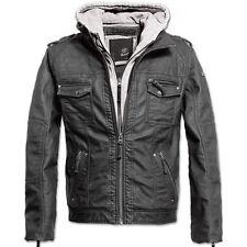 Cappotti e giacche da uomo parke con cappucci pelle