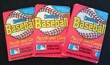 3 x Sealed Packs Donruss 1988 MLB Baseball Cards Bulk Lot Unopened