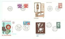 Telephone A34 France Sweden Denmark Luxembourg 1976/79 4 FDC