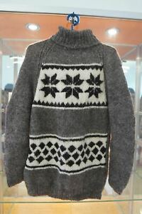 New wool sweater, hand made. M size. from the North Caucasus, natural