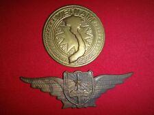 Set of 2 VC Metal Badges: VIETNAM Map + People's Police Of Vietnam C.A.N.D.V.N