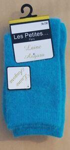 Chaussettes laine Angora majoritaire - Douceur et chaleur - Bleue - 36/38