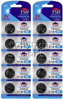 TSH 10 PC CR 2032 3V Lithium Coin Cell Watch Batteries CR2032 Battery ON SALE