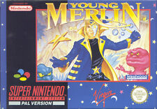 Super Nintendo SNES nes-Young Merlin-Top!!!