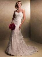 New Sexy White Ivory Lace Mermaid wedding dress Bridal Gown Custom Size
