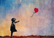 Poster Print - Banksy Balloon Girl in Colour *DISCOUNTED OFFERS*  A3 / A4