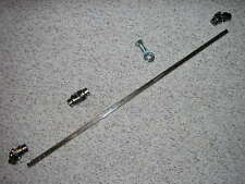 """Mustang II POWER 3 U Joint 36"""" Stainless Steel Steering Shaft Support Kit 3' SS"""