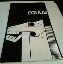 Rare Equus Playbill October 1974 Plymouth Theatre New York Anthony Perkins Stars