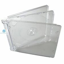 25 x CD Super Jewel Box Double 10.4mm 2 Disc Clear Fliptray Replacement Case HQ