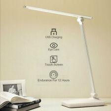 Lámpara de escritorio de lectura de mesa USB ajustable con control táctil LED