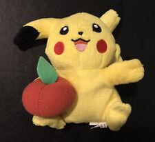 "Pokemon Plush Apple Pikachu Hasbro 2005 doll soft figure stuffed toy 6"" Inch B9"