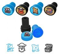 6 Pirate Ink Stamps - Pinata Toy Loot/Party Bag Fillers Childrens/Kids