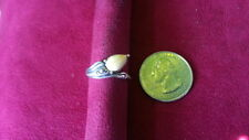Ring 925 Sterling Silver *Size 7*G586 Beautiful Teardrop Yellow Gems Swirl Band