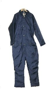 """THERMAL PADDED WATERPROOF ALL IN ONE OVERALL FISHING SUIT WORK GLIDING XL 44 46"""""""