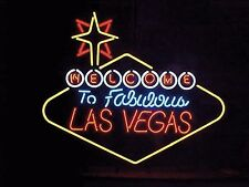 """New Welcome to Las Vegas Nevada Beer Pub Bar Neon Sign 24""""X20"""" PU48L"""