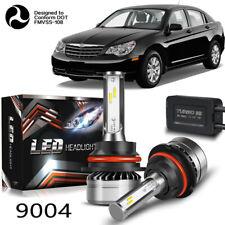 9004 HB1 LED Headlight Kit 60W 12000LM 2-Side Hi/Lo Beam Bulbs White 6000K HID X