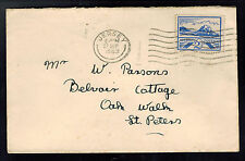 1943 Occupied Jersey cover Channel Island England to Saint Peters