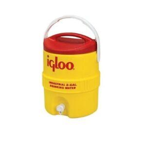 Igloo 421 2-Gallon Heavy-Duty Industrial Drinking Water Cooler, Hi-Vis Yellow