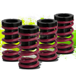 """FOR 01-05 CIVIC EM2 ES FRONT+REAR RACE COILOVER 1-3""""LOWERING COIL SPRING PURPLE"""