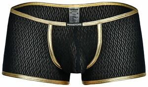 MANstore M2008 Bungee Pant men underwear boxer brief male short mesh gold black