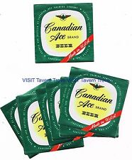 Lot of 12 Unused 1950s Chicago Canadian Ace Beer Quart  Labels